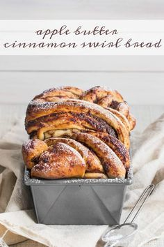 Apple Butter Cinnamon Swirl Bread- This bread was easy to make, so moist, and had plenty of apple butter and cinnamon sugar in every bite. My family loved it!