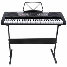 Black 61 Key Music Electronic Keyboard Electric Digital Piano Organ w/Stand Electric Piano Keyboard, 61 Key Keyboard, Keyboard Piano, Music Stand, Guitar Stand, Acoustic Guitar Kits, Best Digital Piano, Piano For Sale, Pianos