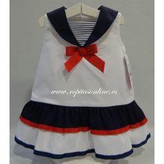 vestido marinero niña - Buscar con Google                                                                                                                                                     Más