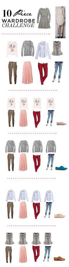10 piece wardrobe challenge.