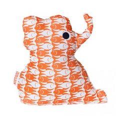 Knuffel Olifant oranje -De Oude Speelkamer