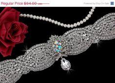 SALE  Bridal Belt Sash  Wedding Sash Belt  by EleganceByKate