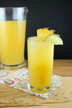 Pineapple Margarita Cocktails for Cocktail Day from Miss in the Kitchen Pineapple Margaritas for #CocktailDay