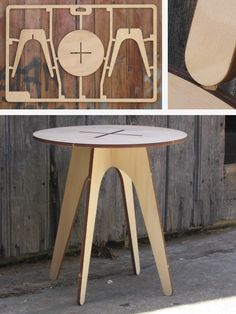 Flat Pack Table (Series II): CNC Laser cut