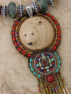 Bear and Cub Necklace by HeidiKummliDesigns on Etsy, $375.00