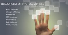 Resources and Links For Photographers