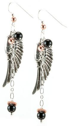Jewelry Making Idea: Angel Earrings (eebeads.com)