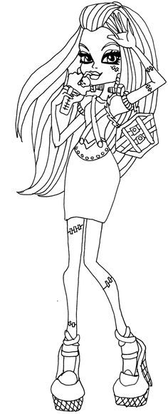 Monster High Frankie Stein Thirst Coloring - Monster High Coloring Pages…