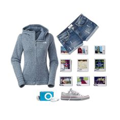 """just an ordinary day"" by lana-drazic-posao ❤ liked on Polyvore featuring Dot & Bo, MANGO, Converse and The North Face"
