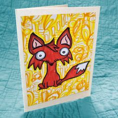 Little Fox Greeting Card - $2.50 via @Etsy