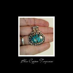 . Blue Copper Turq 925 Ss Nckl