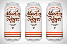 Modern Times Blazing World Beer. I don't drink beer, or know nothing about IPAs or types of hops. All I know is this well-designed can is pretty damn cool looking.