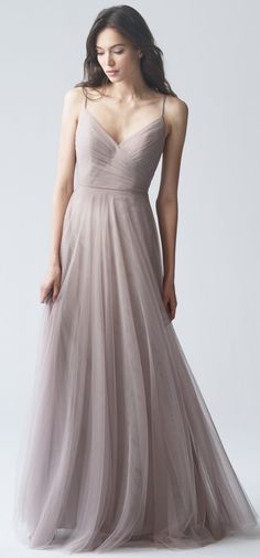 Brielle Bridesmaid Dress in Mink Grey Soft Tulle by Jenny Yoo