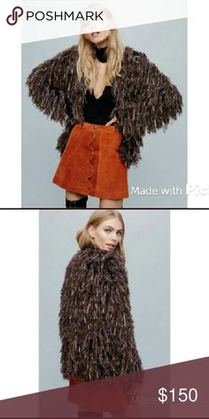 """?? Free People Faithful Cardi Free people faithful cardi in mocha combo. 70s inspired multi-colored shaggy cardi with hidden hook and eye closures at neckline. Rounded neck and long sleeves give this cardi a cozy vintage look. 24"""" long. 20"""" flat across bust. 51% Nylon 25% Acrylic 24% Wool. New w/ sample tag.   Price is firm. This cardi is full price on the FP website Free People Jackets & Coats"""