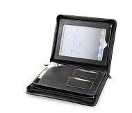 Leather iPad Folder in Black leather