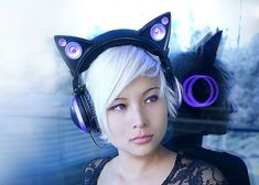 Channel your inner feline with the Axent Wear Cat Ear Headphones. Combining high quality audio with unique fashion, these futuristic headphones are Neko, Cat Lover Gifts, Cat Gifts, Cat Lovers, Cat Headphones, Chat Kawaii, Animal Ears, Looks Cool, Pastel Goth