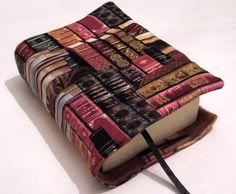 """♥Buchhülle """"BÜCHER""""♥ mit Lesezeichen ♥für dicke & dünne Bücher!       Für Taschenbücher dick und dünn!   Dein Buch für unterwegs- niemand weiß was du"""