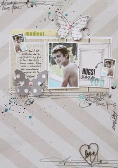#papercraft #scrapbook #layout   Hugs by cat123 at @Studio_Calico