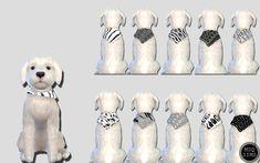Small Dog Bandanas 01 - The Sims 4 Catalog Sims 4 Teen, Sims 4 Toddler, Sims Cc, Les Sims 4 Pc, Sims Four, Sims 4 Mods Clothes, Sims 4 Clothing, Sims Pets, The Sims 4 Cabelos