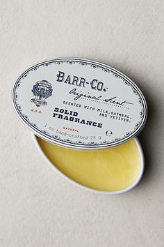 barr-co. solid perfume in original (scented with milk, oatmeal, vanilla, and vetiver)--for the wishlist