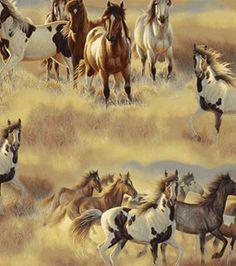 Anti Pill Fleece Print-Galloping Horses: anti pill fleece: fleece fabric: fabric: Shop   Joann.com