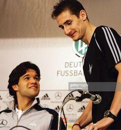 Nationalmannschaft Deutschland 2004, Busan; ; Pressekonferenz; Michael BALLACK, Miroslav KLOSE