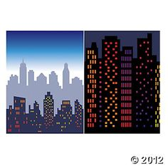 Design-A-Room! New York Cityscape Background, Backdrops & Scene Setters, Party Decorations, Party Themes & Events - Oriental Trading