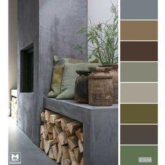 Luxury Home Decoration Ideas Modern Color Schemes, Living Room Color Schemes, Colour Schemes, Color Combos, Paint Color Palettes, Colour Pallette, Paint Colors, Design Apartment, Color Balance