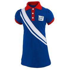 New York Giants Infant Girls Polo Dress - Royal Blue - $21.99