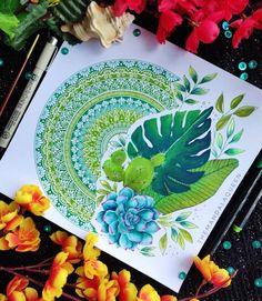 Mandala Art Lesson, Mandala Artwork, Mandala Drawing, Mandala Painting, Mandala Design, Watercolor Mandala, Doodle Art Designs, Indian Art Paintings, Art Drawings Sketches Simple