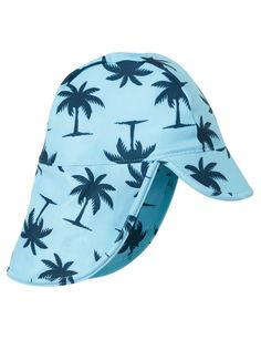 A legionnaire hat with all-over palm print.