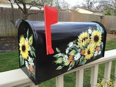 Charming painted mailbox sunflowers and by DaisyCustomPainting