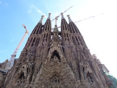 Spain, Barcelona, Sagrada Familia. Still under construction. One of the entrance, the first one to be built.