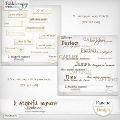 A delightful moment {add on} by Fanette Designs
