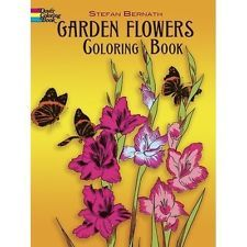 Adult Coloring Book Garden Flowers Designs Stress Relief Doodle Creative Relax