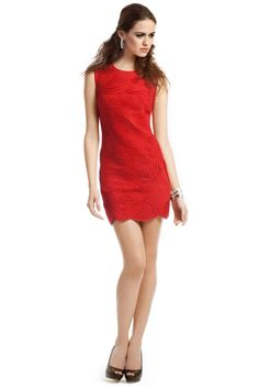 Rent Crimson Scalloped Dress by Robert Rodriguez Collection for $35 - $40 - Page 2 only at Rent the Runway.