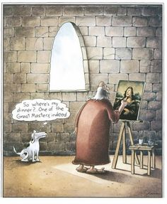one of the great masters, indeed | the far side | by: gary larson