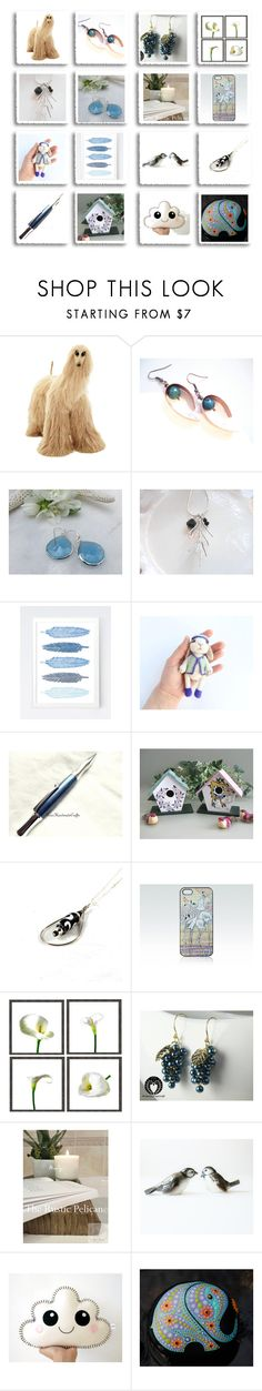 """Treasury Blues"" by inspiredbyten ❤ liked on Polyvore featuring Goebel and vintage"