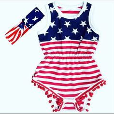 The cutest 4th of July Romper! Available size 0-6, 6-12, 12-18 months. $24.00  Leave email to be invoiced!