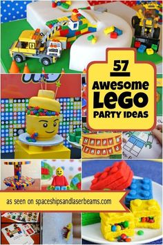 Planning a Lego themed party? Check out this list of great games and activities … Planning a Lego themed party? Check out this list of [. Lego Party Games, Lego Themed Party, Lego Parties, Lego Party Decorations, Themed Parties, Party Fiesta, Festa Party, 6th Birthday Parties, Birthday Fun