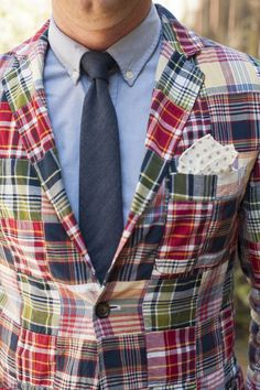 Madras blazer - great summer outfit for the dapper gentleman!