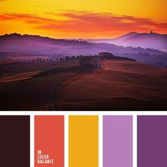 anaranjado y violeta, color berenjena, color casi negro, color naranja rojizo, color ocre, color rojo anaranjado, colores de la puesta del sol, colores de otoño, colores para la primavera, combinación de colores de otoño, combinación de colores para otoño, matices otoñales, selección