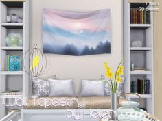 Sims 4 CC's - The Best: Wall Tapestry by Helen