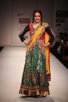Raima Sen for Joy Mitra SS'14.  #wifw #ss14 #fdci #infashion #fashion #trends #fashionweek #joymitra