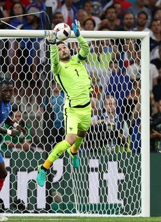 #EURO2016 Hugo Lloris of France in action during the UEFA Euro 2016 semi final match between Germany and France at Stade Velodrome in Merseille France on July...