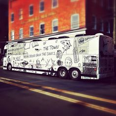 Macklemore & Ryan Lewis' bus.  I think they want the Sonics back...