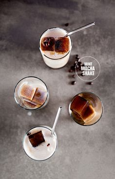 Need to try this -- mint mocha shake with coffee ice cubes!