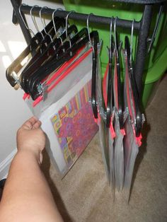 I was just thinking the other day, I need a hanging storage system like my pharm. I was just thinking the other day, I need a hanging storage system like my pharmacist uses. Scrapbook Paper Storage, Craft Paper Storage, Scrapbook Organization, Craft Organization, 12x12 Scrapbook, Listening Center Organization, Paper Craft, Sticker Organization, Scrapbook Rooms