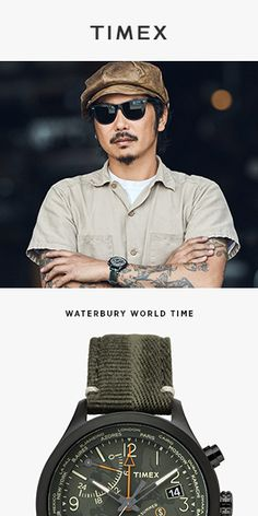 Looking for a new strap for your current watch, or a brand new Timex watch? Check out the Waterbury World Time Fabric Strap Watch today and see what sets Timex apart from the rest. Amazing Watches, Cool Watches, Watches For Men, Wrist Watches, Timex Watches, Men's Watches, Gift Of Time, Mens Gear