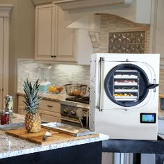 Harvest Right home freeze dryer. First at home affordable freeze dryer Kitchen Shop, Red Kitchen, Black Kitchens, Kitchen Items, Kitchen Gadgets, Emergency Food Storage, Dry Food Storage, Emergency Preparedness, Harvest Right Freeze Dryer